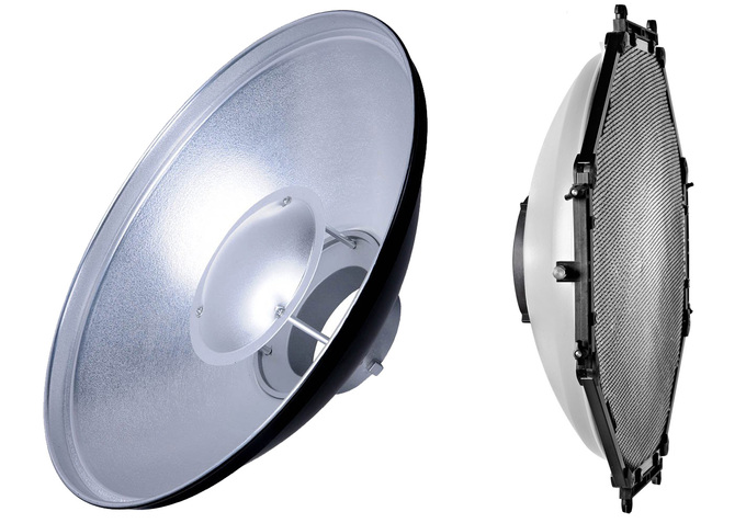 Beauty dish srebrny plus grid